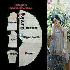 "30 Likes, 1 Comments - Ide Menjahit (@ide_menjahit) on Instagram: ""Pola dress. Silahkan share ke teman2mu Sumber: Chandra sihombing #idemenjahit #belajarmenjahit…"""