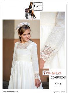 Vestidos de Comunión, Pilar del Toro, Comunión Trendy, Primera Comunión Trajes, 6