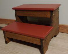 Handmade wooden step stool meditation stool bench | Etsy Meditation Stool, Wooden Steps, Stair Treads, Stack Of Books, Sell On Etsy, Handmade Wooden, Polka Dots, Bench, Shelves