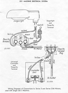 how to re wire a potted motor part 1 wire wire stripping singer model 221 featherweight sewing machine featherweight wiring diagram