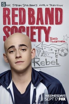 Leo Roth (Charlie Rowe). Leader of the Red Band Society. Looks good as a cueball head