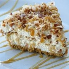 Caramel Coconut Pie | This is one of those decadent, sinful pies that you don't want to make too often unless you have a lot of will power!