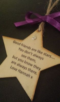 Personalised FRIENDS quote decoration tag 18th 21st 30th 40th long distance gift in Plaques & Signs | eBay