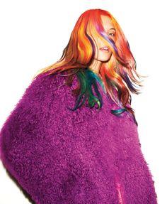 In Living Color- Harpers Bazaar fashion editorial #purple