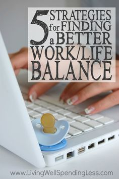 Ever feel like you are juggling too many balls?  Don't miss these 5 smart strategies for finding a better work/life balance.  It is some must-read encouragement for the busy mom who's trying to do it all!