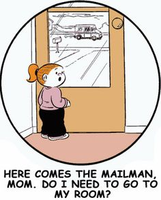 here comes the mailman