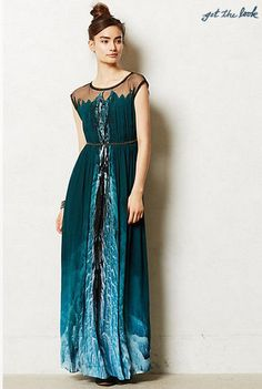NWOT Anthropologie by Geisha Designs Icefall Maxi Dress Sz 12 #Anthropologie #Maxi