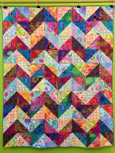 Kaffe Fabric Chevron Quilt                                                                                                                                                                                 More
