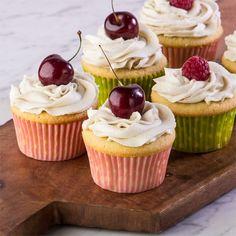 Citrus Vanilla Cupcakes. Gluten and dairy free. Happy birthday to us.
