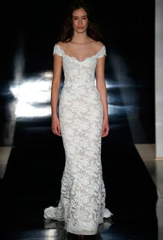 Reem Acra Bridal Spring 2017   #BridalFashionWeek #WeddingDress [Photo: George Chinsee]
