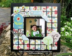Patterned Paper Frame Fun  By Virginia Nebel