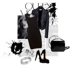 """""""1"""" by hopiess ❤ liked on Polyvore featuring moda, Victoria Beckham, Christian Louboutin, Balenciaga, Moschino, Givenchy, Pieces i Worthington"""