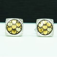 JAPANESE MAPLE LEAFS GOLD & SILVER PLATED HANDCRAFTED CUFFLINKS amt-001 #Amita