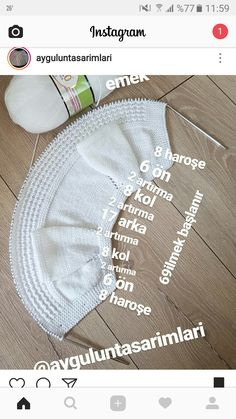 Baby hirkasi – Bayram Aydin – Join the world of pin Easy Knitting Patterns, Knitting For Kids, Knitting Stitches, Baby Knitting, Crochet Patterns, Baby Cardigan, Baby Pullover, Baby Vest, Crochet Hooded Scarf
