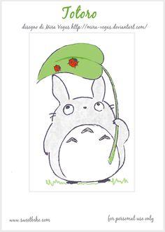 Sweet behe:Totoro mini poster printable