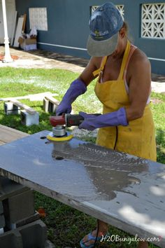 Step by step tutorial with a video for a DIY concrete countertop. We made our…