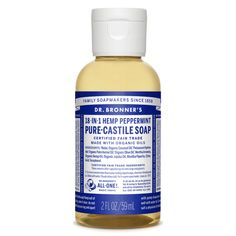 Dr. Bronner's Peppermint Castile soap is great for mouth hygiene.