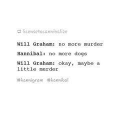 Hannibal & Will: Compromises