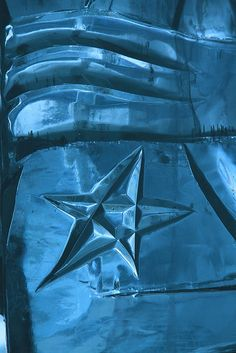 Ice Carving Star at the Ice Hotel in Sweden  #ice sculpture #arcticcircle