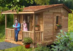 I am totally inlove with this Playhouses - Cozy Cabin Playhouse - 7'x9' - OLT I wonder if they need it reviewed?!??!?!
