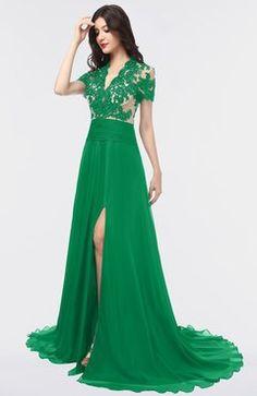 aea03e6869 Green Bridesmaid Dresses Short Sleeve