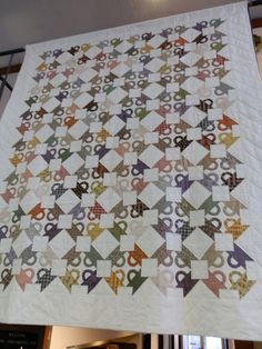 Basket quilt with a white background