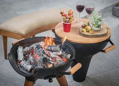 Cook up something tasty when you use the Transforming Hinged Chiminea Grill which offers two cooking methods in one. Chiminea, Charcoal Grill, Grilled Chicken, Grilling, Bbq, Tasty, Make It Yourself, Cooking, Recipes
