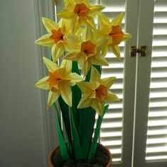 Origami Paper Daffodils