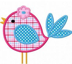 Descarga instantánea lindo pájaro apliques bordado de máquina de diseño NO: 1292