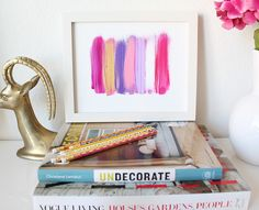 sweet idea for a bedroom or near a dressing table to glam it up :)  #DIY