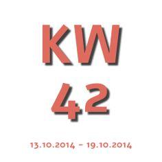 Die Aktuelle Kalenderwoche - KW 42 2014 geht von 13.10.2014 - 19.10.2014