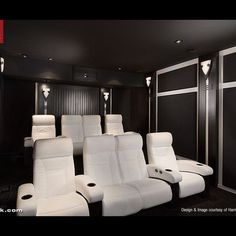 Cineak White Fortuny Seats in Home Theater - モダン - シアタールーム - Los Angeles - CINEAK luxury seating Home Theater Basement, Home Theater Rooms, Home Theater Design, Home Interior Design, Basement Ideas, Home Automation System, Smart Home Automation, White Elegance, Lounge