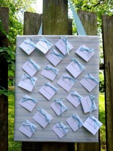 baby shower blessing board