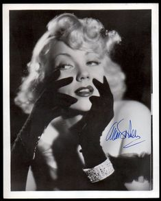ANN SOTHERN autograph signed VINTAGE PHOTO 8x10 DBW sexy actress