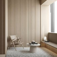 The natural wood color flows well in the room with the grey of the rug because they both compliment each other. Japanese Interior Design, Design Consultant, Elle Decor, Interior Inspiration, Interior Architecture, Interior Decorating, Living Room, House Styles, Furniture
