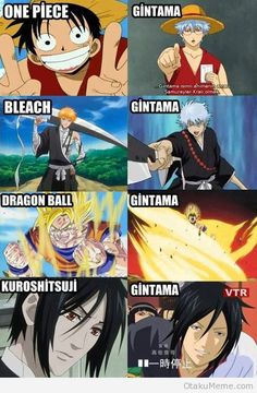 Gintama the anime that rips off other animes for the sake of trying to be funny