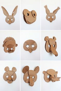 Originales Máscaras decorativas de cartón ‹ Descargables Gratis para Imprimir: Paper toys, diseño,  Origami, tarjetas de Cumpleaños, Maquetas, Manualidades, decoraciones fiestas y bodas, dibujos para colorear, tutoriales. Printable Freebies, paper and crafts, diy
