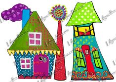 whimsical houses........Altered by me for you....Instant download.....You can start creating straight away..Great for those who feel they are not very artistic.  This collage sheet has been digitally altered by me,for you to use in your artwork...Add your own content.  The pictures shown do not do justice to the one you will recieve,which will be much more detailed and clearer than the image displayed..A4 size digital download.  Digital collage sheets are brilliant for those of us who want…