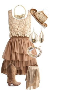 """Western Bridesmaid"" by rhondahenninger1 ❤ liked on Polyvore"