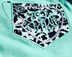 Nursing Stethescope Pocket Tshirt with Monogram