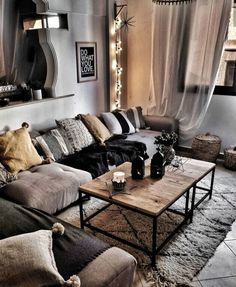 Living room designs – Home Decor Interior Designs Boho Living Room, Home And Living, Living Room Decor, Living Spaces, Bedroom Decor, Modern Living, Master Bedroom, Dining Room, Simple Living