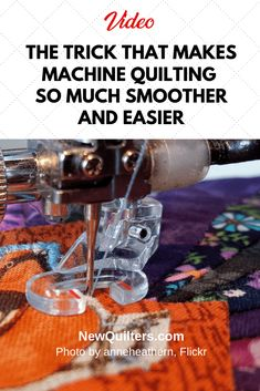 Wish machine quilting was less of a struggle? Watch this video from Sew so Easy to find out the surprising secret of reducing friction while you free-motion quilt. Machine Quilting Patterns, Quilting Tools, Quilting Tutorials, Sewing Patterns Free, Free Sewing, Sewing Tutorials, Longarm Quilting, Quilting Ideas, Quilting Stencils