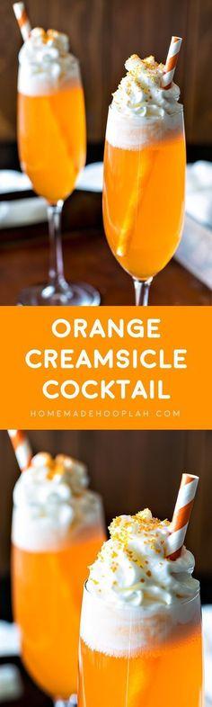 Orange Creamsicle Cocktail (1 part vanilla vodka cold 6 part orange soda) {wineglasswriter.com/}