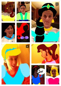 my sister sent me these on snapchat... disney princesses