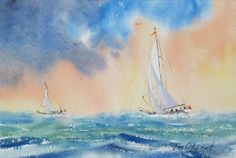 """Toward the Storm - 7.5x11"""" original watercolor painting by Jim Oberst - $100 including U.S. shipping."""