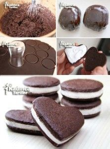 Ev Yapımı Oreo Tarifi, Nasıl Yapılır – Pratik yemekler – Las recetas más prácticas y fáciles Köstliche Desserts, Delicious Desserts, Dessert Recipes, Yummy Food, Cupcake Recipes For Kids, Easy Cake Recipes, Graham Recipe, Dessert Oreo, Most Delicious Recipe