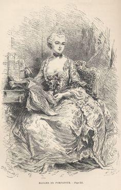 Madame de Pompadour Madame Pompadour, Louis Xiv, Rococo Fashion, Tag Image, European History, Drawing Sketches, Drawings, Vintage Prints, A4 Poster