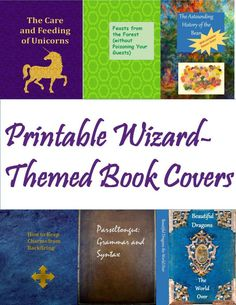 How To Make A Harry Potter Library Printable Wizard Themed Book Covers And Use Them