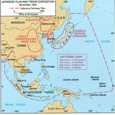 Asia and the Pacific – The Japanese Plan and Troop Disposition, November 1941