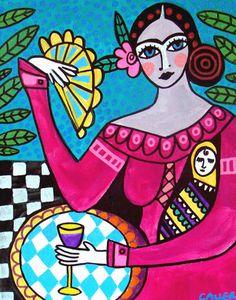 50 Off Today  Frida Kahlo by HeatherGallerArt on Etsy, $10.00